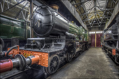 Didcot Engine Sheds (Darwinsgift) Tags: didcot railway centre engine sheds train locomotive museum nikkor 19mm f4 pc e tilt shift hdr photomatix indoor nikon d810