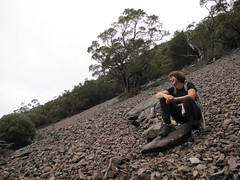 Sue on Scree Slope One – Stirling Ranges, Western Australia (Red Moon Sanctuary) Tags: redmond westernaustralia australia au scree slope mttoolbrunup mountain stirlingranges greatsouthern wa