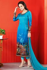 Semi Stitched Sky Blue Satin Printed Straight Cut Suit (nikvikonline) Tags: satin satinsalwar salwarkameez pakistani pakistanisuit suit suitsalwar salwar kameez designersalwar salwarsuit designer kamiz kamizonline suits straight pant green blue bridal wedding dress dresses