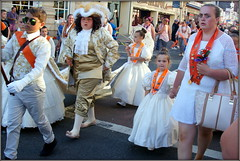 Starting 'em young (* RICHARD M (Over 6 million views)) Tags: street candid orangemensday orangeorder loyalorangelodge lol loyalorangeinsitution orangelodge marchers marches parades 12thjuly costumes orangesashes southport sefton merseyside indoctrination marching holdinghands parentalguidance learnedbehaviour goups crowds pageantry loyalorangeinstitution sectarianism