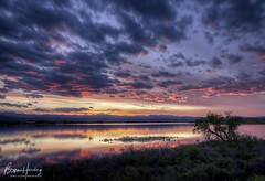 Sunset in Motion - Boulder County, Colorado (www.rootsstudiophoto.com) Tags: sunset reflection sky clouds lake reservoir pond ishreservoir bouldercounty longmont berthoud plains colorado light color coloradolandscape landscapephotography frontrange front range photography