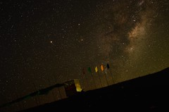 Midnight on a mountain. (ambuj.soni) Tags: sky mountain start dark brown night galaxy d5100 nikon