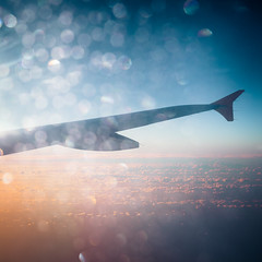 Flying bokeh (Zeeyolq Photography) Tags: bokeh clouds flying fromtheplane holidays plane sunset travel canarias espagne