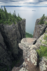 There and Back Again (Portraits of Nature) Tags: outdoors hiking cliffs sleepinggiant ontario chimney lakesuperior island clouds landscape scenic