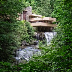 Falling Water (OSChris) Tags: pennsylvania fallingwater franklloydwright architecture nature