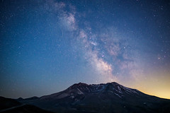 Energy Drives Expansion (garshna) Tags: mountsainthelens milkyway universe stars night sky mountain mount saint helens national mountsainthelensnationalvolcanicmonument gifforpinchotforest