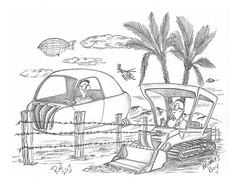 Moma's Boy (rod1691) Tags: bw scifi grey concept custom car retro space hotrod drawing pencil h2 hb original story fantasy funny tale automotive art illistration greyscale moonpies sketch