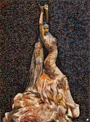 flamenco Mosaico (by zurera) Tags: digital hd art collage retratos portraid zurera people fotomontaje image autoretratos mosaic flamenco