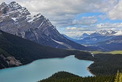 Peyto Lake - Banff National Park, Alberta, CA [explored] (André-DD) Tags: canada kanada urlaub vacation peytolake peyto lake see glacier gletscher wasser water panorama wolken clouds cloud wolke berge mountains berg mountain wanderung hike nature nationalpark banffnationalpark banff alberta peytoglacier creek flus peytocreek