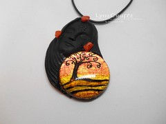 Polymer Clay Pendant Awaiting Spring by LynzCraftz (LynzCraftz) Tags: polymerclay pendant jewelry necklace oneofakind handmade art resin
