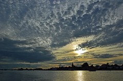 Bosham clouds (Andrew Boxall) Tags: landscape seascape sunset bosham harbour quay clouds cloudscape west sussex uk england south coast silhouette july 2017 reflection