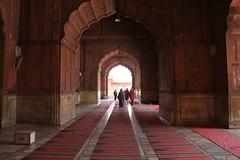 Delhi Jama Masjid interior walkway (Heaven`s Gate (John)) Tags: delhi jama masjid mosque temple art architecture interioe walkway arch johndalkin heavensgatejohn india perspective 25faves topf25