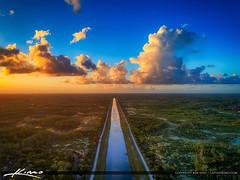 C-18 canal Palm Beach Gardens Aerial View Sunset (Captain Kimo) Tags: c18canal captainkimo easyhdr florida hdrphotography palmbeachcounty palmbeachgardens sandhillcranepark sunset