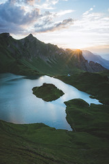 Mirrorless (Bokehm0n) Tags: landscape nature vsco explore flickr earth travel folk 500px sky fog lake sunset water volcano rock snow mountain dawn valley alps outdoors daylight scenic hike no person fair weather schrecksee bavaria