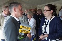 Sam Durham and Dr Caroline Johnson MP (NFU pics) Tags: unitedkingdom gbr nfururalcrimereportlaunch manifesto ruralcrime report houseofcommons july 2017