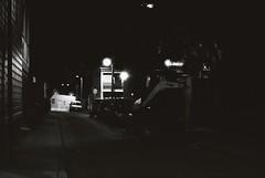 Back lane (goodfella2459) Tags: nikon f4 af nikkor 50mm f14d lens ilford delta 3200 35mm blackandwhite film analog back lane road sydney newtown night city streets lights cars bwfp milf