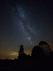 Milky way over Observatory at F4 (Tea Jay Photography) Tags: milchstrase milkyway stars sterne observatorium observatory sternwarte hoherlist eifel vulkaneifel laowa75mm