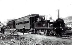 "Weston, Clevedon & Portishead Railway (UK) - WCPR 2-4-0T steam locomotive Nr. 4 ""Hesperus"" (Sharp Stewart & Co Locomotive Works, Glasgow 2578 / 1876) (HISTORICAL RAILWAY IMAGES) Tags: steam locomotive train hesperus portishead 240 1384 1911 railway gwr uk wcpr westonclevedonportisheadrailway clerestorycoachukstock 19thcentury"