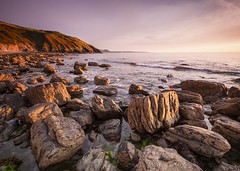 Coybal Sunset (Adam Evans (ffaffman)) Tags: d300 nikon sunset beach coast rocks wales ceredigion newquay sigma1020mm summer