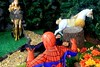 Paprihaven 1093 (MayorPaprika) Tags: canoneos50d 16 custom diorama toy story actionfigure paprihaven 2017 spiderman park turtlecrossing worldpeacekeepers madetomove barbie mattel lea policeofficer captainaction playing mantis queenhippolyta horse wonderwoman realheroes topcop marvelvsdc