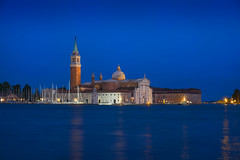 Chiesa di San Giorgio Maggiore & Blue Hour (Luís Henrique Boucault) Tags: architecture blue cathedral explore historic hour ocean sunset square view adventure attraction basilica boat building church city dawn eposure europe giorgio history island italian italy landmark light long maggiore night nobody old outside reflection roman san scene sea space tourism tourist tower traditional travel twilight vacation venetian venice water white venezia veneto itália it
