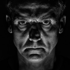 THIERRY - The dark side of the mood project -24 (ericbeaume) Tags: nikon nb noirblanc noiretblanc bw blackwhite portrait monochrome mood moody square male man face people thedarksideofthemoodproject ericbeaume