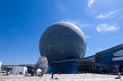 EXPO's Death star (busitskee) Tags: astana kazakhstan architecture sky future enegry design
