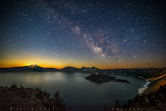 Midsummer moonrise, Crater Lake, Oregon (Michael Holden) Tags: clnp craterlake oregon usa astrophotography cascades earthporn galaxy lake longexposure milkyway moon moonrise nationalpark natural night nopeople pacificnorthwest stars wizardisland unitedstates us