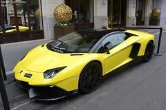 Lamborghini Aventador LP720-4 Roadster 50° (Monde-Auto Passion Photos) Tags: voiture vehicule auto automobile lamborghini aventador roadster cabriolet convertible spider jaune sportive supercar rare rareté france paris