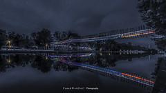 The bridge (mr.wohl) Tags: brücke bridge oberhausen nacht nachtaufnahme langzeitbelichtung tamron tamron1530 kanal wasser sternenhimmel