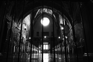 Sacro speco in subiaco n.3 (black and white)