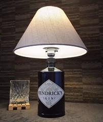 Hendrick's Gin Bottle Lamp Upcycled (Wattbottles) Tags: hendricks gin bottle lamp lighting gift present idea home decor bar steampunk upcycled boho interior design style