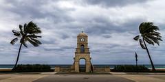 storm (rey perezoso) Tags: 2014 usa florida palmtree palmbeach clock clocktower