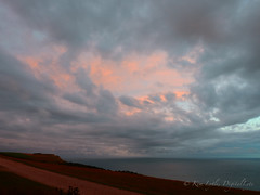 anti-solar storm remnants (DigitalLyte) Tags: evening poststorm sunset clouds sky hills sea skyscape seascape coast ringsteadbay englishchannel cliffs ringstead dorset uk england