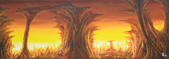 Point Of View (Canyon) (RedRoofArt) Tags: painting art fantasy acryl canvas panorama cave canyon yellow brown