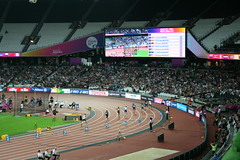 T42 200m final - underway (h_savill) Tags: london 2017 world para athletics champs stratford olympic stadium athlete sport compete medal t42 track 200m final richard whitehead
