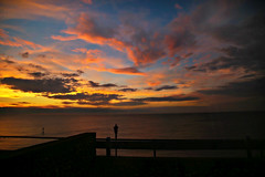 Sunset over Sheringham, Norfolk (crafty1tutu (Ann)) Tags: travel holiday 2017 unitedkingdom uk england sheringham norfolk water ocean sunset crafty1tutu canon5dmkiii canon24105lserieslens anncameron sky beach sea coth naturescarousel naturethroughthelens