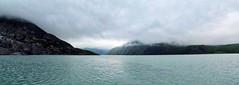 Portage Lake Panorama (John Stankovich) Tags: water lake alaska portagelake portage mountains ice frozen anchorage glacier usa