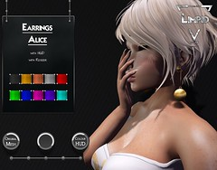 Limpid Earrings Alice [Exclusive Suicide Dollz Event] (LimpidSL) Tags: limpid suicidedollzevent secondlife sl