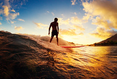 Surfing at Sunset. Young Man Riding Wave at Sunset. Outdoor Acti (frbarresearch) Tags: action active activelifestyle adventure backlit barrel beach beachsunset bikini blue boy energy epic evening exercise extreme fun happy hawaii hawaiian lifestyle liquid longboard male man nature ocean oceanwave oceanwaves outdoor outdooractivities pacific peaceful ride sea shorebreak silhouette sky sport spray summer sun sunny sunset sunsetbeach sunsetsky surf surfer surfing travel tropical vacation warm water watersports wave young