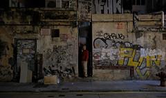 """comfort zone"" (hugo poon - one day in my life) Tags: xt2 23mmf2 hongkong causewaybay tanglungstreet alley backalley lane dark citynight dilapidation wall vanishing solitude comfortzone phone urban sign graffiti"