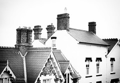 Townhouse Rooftops At Beccles, Suffolk (Peter Greenway) Tags: roofs town beccles flickr suffolk window townhouses chimneypots rooftops