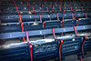 Orderly Rows of Much Loved Seats (brucetopher) Tags: flickrfriday abitoforder boston redsox historic fenway fenwaypark baseball stadium grandstand seating seats chair number numbered emptyseats blue red redwhiteandblue redwhiteblue american field park ballpark player play passtime pasttime game contest summer antique old iphone 6s order flfrok