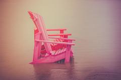 (A Great Capture) Tags: agreatcapture agc wwwagreatcapturecom adjm ash2276 ashleylduffus ald mobilejay jamesmitchell toronto on ontario canada canadian photographer northamerica torontoexplore beach chairs muskokachairs red pink water lakeontario
