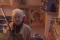 Lillian in her studio (jonathan charles photo) Tags: artist painter lilian delevoryas robinamis studio clifton bristol portrait art photo jonathan charles