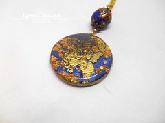 Polymer Clay Pendant Butterflies in Steampunk by LynzCraftz (LynzCraftz) Tags: polymerclay pendant jewelry necklace oneofakind handmade art resin