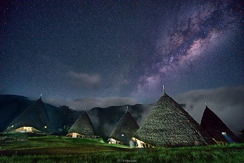 Milky Way over Wae Rebo Village