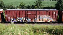 Cedar/Erupto (quiet-silence) Tags: graffiti graff freight fr8 train railroad railcar art boxcar cedar erupto a2m ba nsf vts d30 bnsf bnsf760902