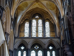 Salisbury Cathedral, grisaille windows (profzucker) Tags: salisbury salisburycathedral earlyenglish gothic england architecture cathedral smarthistory medieval english