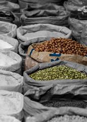 nuts (Greg Rohan) Tags: streetphotography grains asia vietnam food streetmarkets hochiminhcity saigon nuts spotcolour 2017 d7200